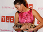Lisa Snowdon and micro pig at TLC - photo
