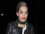 Rita Ora makes a late night visit to best friend Cara Delevingne's house.