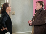 Janine makes it clear to Ian that he needs to sort the problem or she wants all of her money back immediately.
