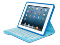 The Logitech accessory combines a Bluetooth keyboard with a protective cover.
