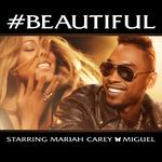 Mariah Carey ft. Miguel '#Beautiful' single artwork.