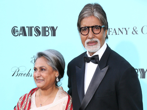 Amitabh Bachchan & his wife Jaya Bhaduri at the premiere of &#39;The Great Gatsby&#39; in New York