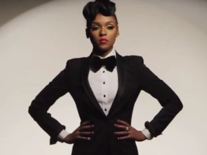 Janelle Monáe in 'Q.U.E.E.N.' music video.