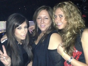 Kim Kardashian hangs out at Beyonce's London concert