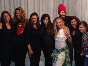Kim Kardashian backstage at Beyonce's London concert