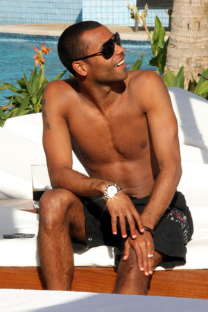 Ashley Cole, shirtless