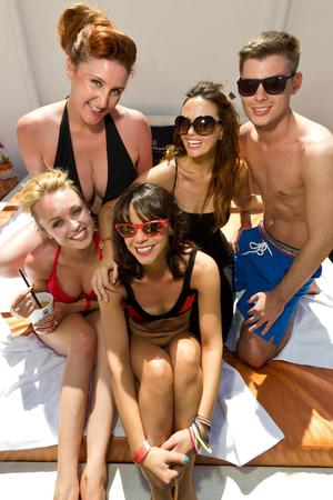 'Hollyoaks' cast members in Ibiza
