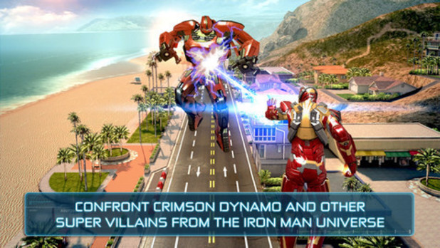 A screenshot from 'Iron Man 3 - The Official Game'