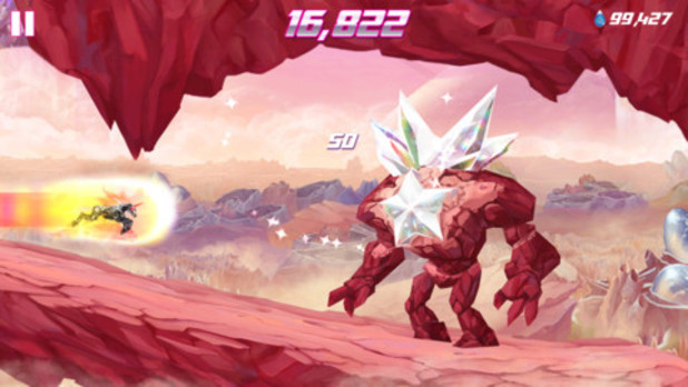 A screenshot from 'Robot Unicorn Attack 2'