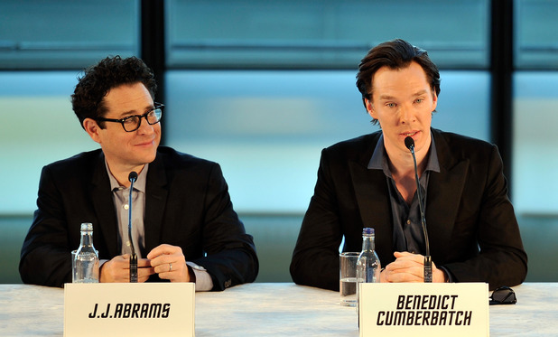 J.J. Abrams and Benedict Cumberbatch