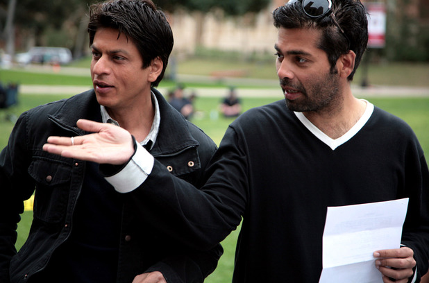 Shahrukh Khan with Karan Johar on the set of 'My Name is Khan'