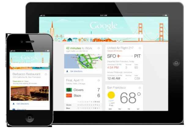 Google Now running on iOS devices