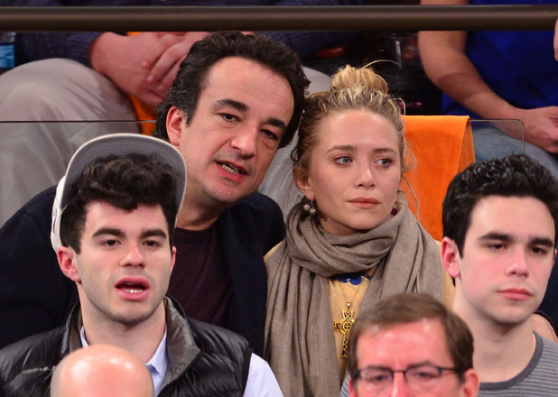 Mary-Kate Olsen, Olivier Sarkozy, The Boston Celtics Vs New York Knicks, Madison Square Gardens NYC