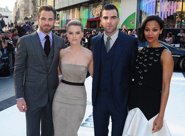 Main cast at the London Premiere