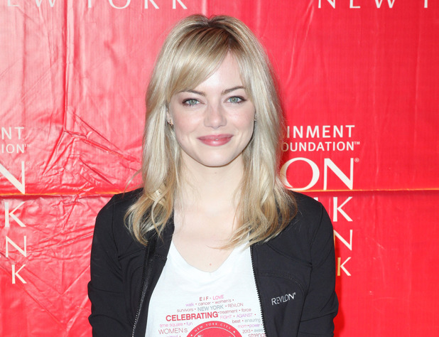 Emma Stone kickstarts the Annual Entertainment Industry Foundation Revlon Run/Walk for Women in Times Square.