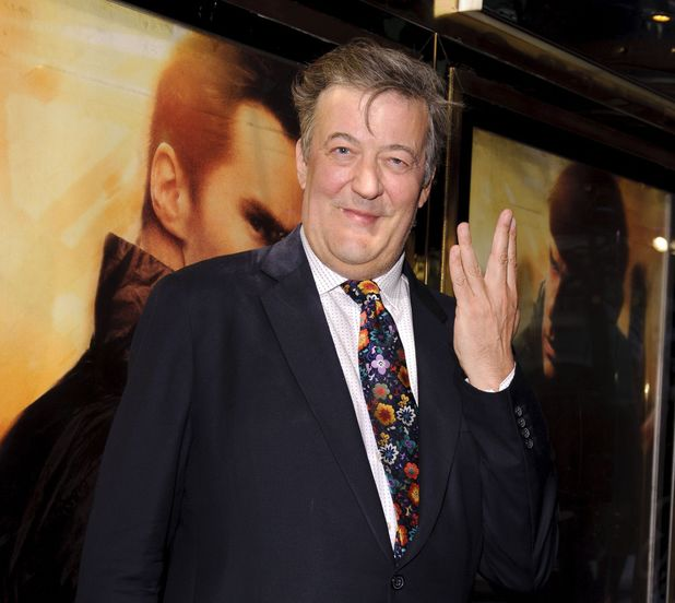 Stephen Fry arriving for the premiere of Star Trek Into Darkness at the Empire Leicester Square, London.