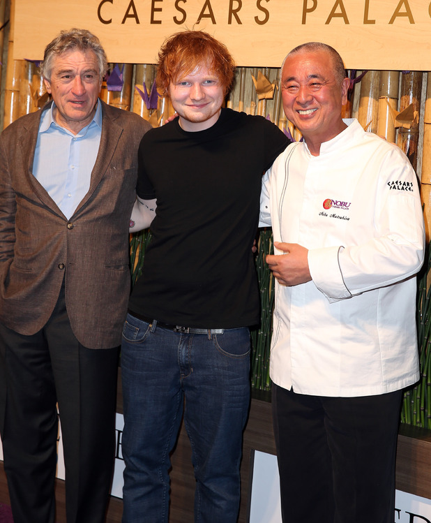 Robert De Niro, Ed Sheeran and Nobu Matsuhisa