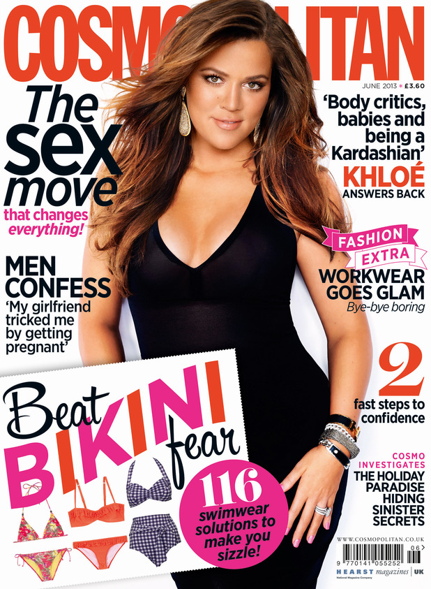 Khloe Kardashian on the cover of Cosmopolitan June Issue