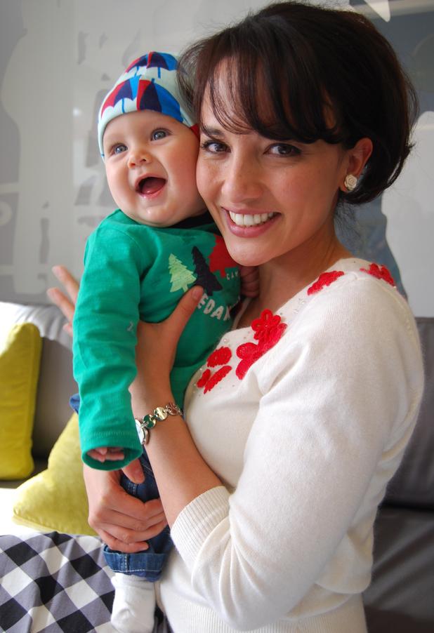 Alin Sumarwata with baby Patrick