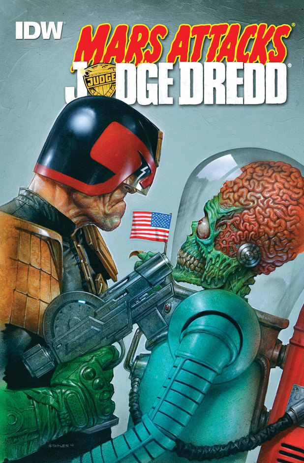 Cover artwork for 'Mars Attacks Judge Dredd'