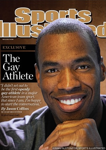 Jason Collins comes out as gay on Sports Illustrated's cover