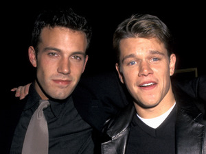 Ben Affleck, Matt Damon, famous flatmates, Good Will Hunting premiere, 1997