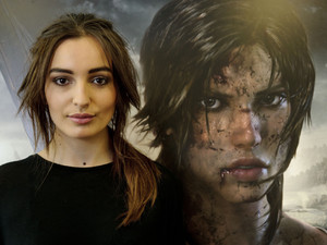 The Lara Croft look is replicated in a HOB Salon