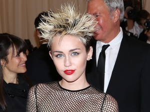 Miley Cyrus, Costume Institute Gala Benefit celebrating the Punk: Chaos To Couture exhibition, Metropolitan Museum of Art, New York, Marc Jacobs