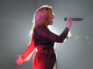 "Demi Lovato performs at KIIS FM's ""Wango Tango 2013"" at the Home Depot Center on Saturday, May 11, 2013 in Carson, Calif."