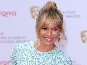 The 2013 Baftas - arrivals: Sienna Miller, vintage powder blue dress