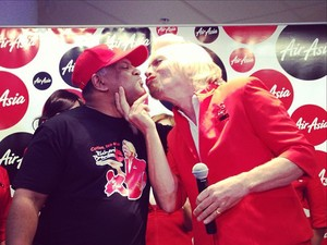 Sir Richard Branson with Tony Fernandes