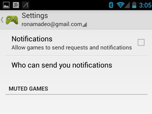 Google Play Games 'settings'
