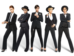 The Saturdays &#39;Gentleman&#39; single artwork.