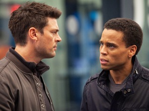 'Almost Human': Karl Urban (L) and Michael Ealy (R)