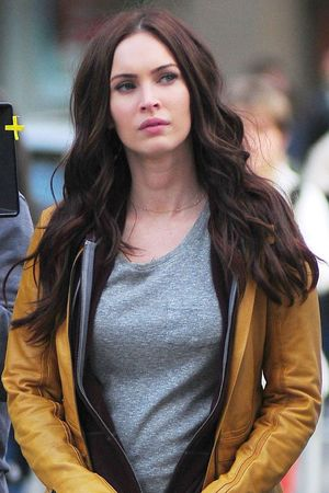 Megan Fox on the set of 'Teenage Mutant Ninja Turtles'