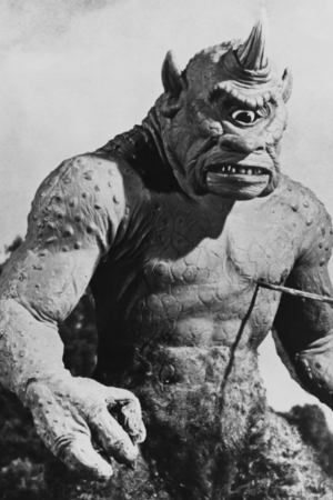 Ray Harryhausen's monstrous cyclops from 'The 7th Voyage of Sinbad' -1958