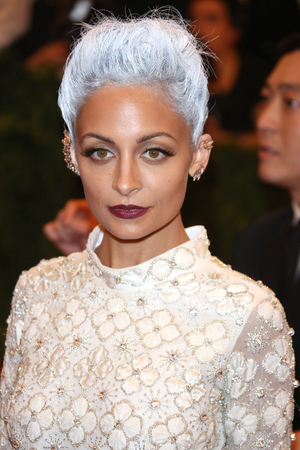 Nicole Richie, silver hair, 2013 Met Ball, Costume Institute Gala Benefit celebrating the Punk: Chaos To Couture exhibition, Metropolitan Museum of Art, New York