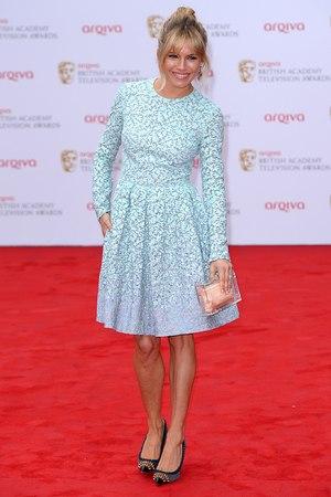 The 2013 Baftas - arrivals: Sienna Miller, vintage powder blue dress