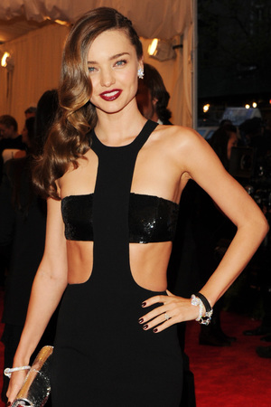 "Miranda Kerr attends The Metropolitan Museum of Art's Costume Institute benefit celebrating ""PUNK: Chaos to Couture"" on Monday, May 6, 2013 in New York."