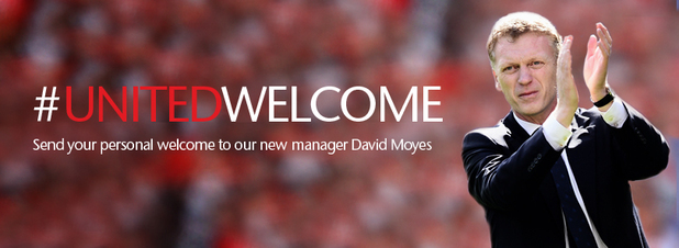 Manchester United's Facebook page on the Day of Moyes's appointment