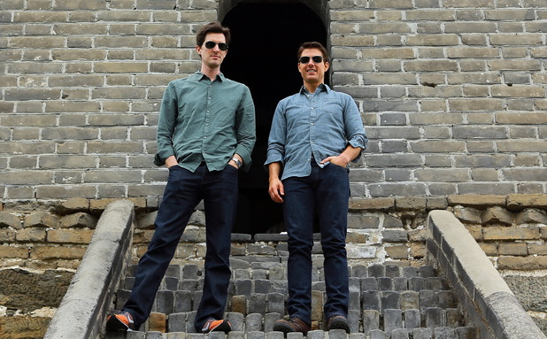 Director Joseph Kosinski & Tom Cruise visit the Great Wall of China