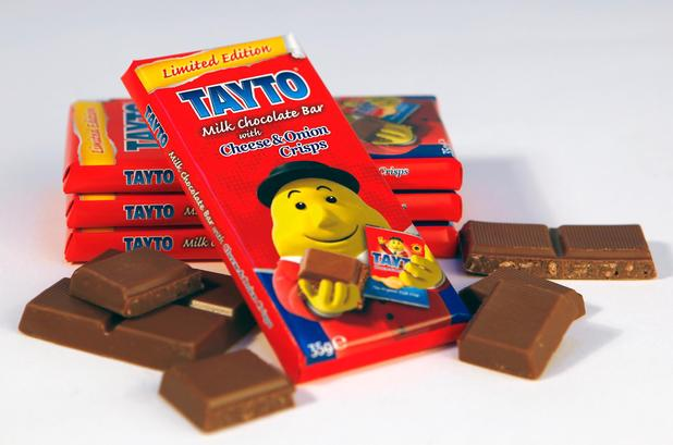 Tayto cheese and onion chocolate bar
