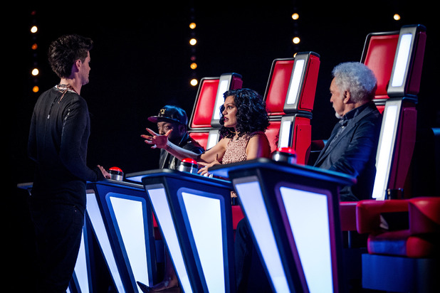 The judges during the battle rounds on episode & of 'The Voice UK'