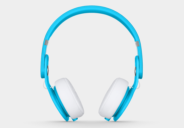 Beats Electronics' Mixr headphones in neon blue