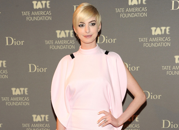 Anne Hathaway, Tate Americas Foundation artists dinner and after party, New York, blonde hair, sleek style, celebrity couple