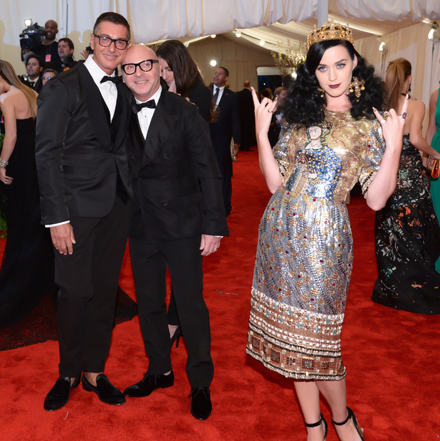 Katy Perry and Stefano Gabbana and Domenico Dolce