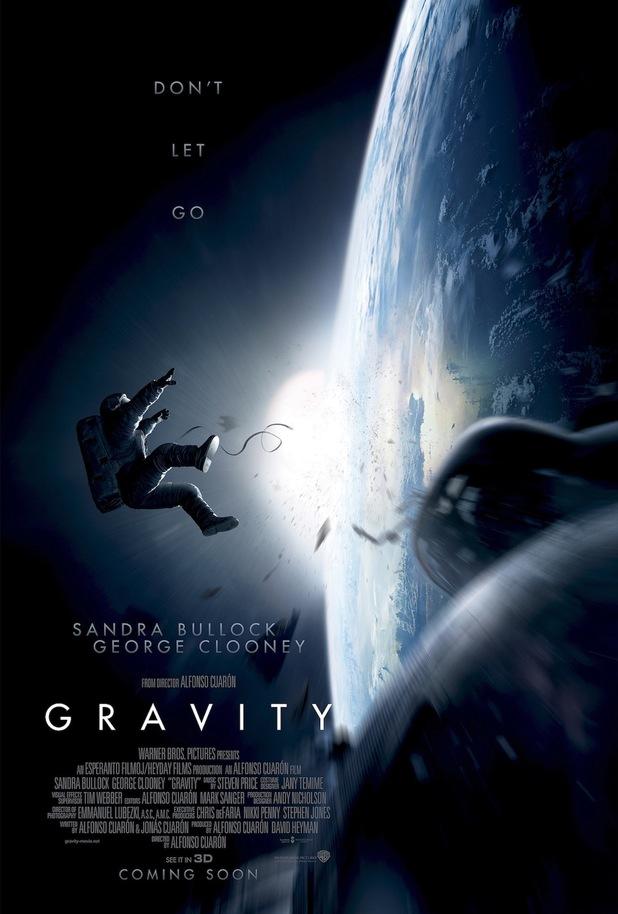 Gravity poster George Clooney, Sandra Bullock