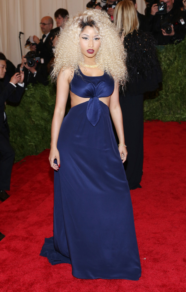 Nicki Minaj, 2013 Met Ball, Costume Institute Gala Benefit celebrating the Punk: Chaos To Couture exhibition, Metropolitan Museum of Art, Tommy Hilfiger
