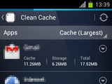 A screenshot of AVG Memory & Cache Cleaner on Android