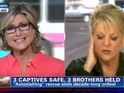 Cars are seen driving by Ashleigh Banfield and Nancy Grace at the same time.